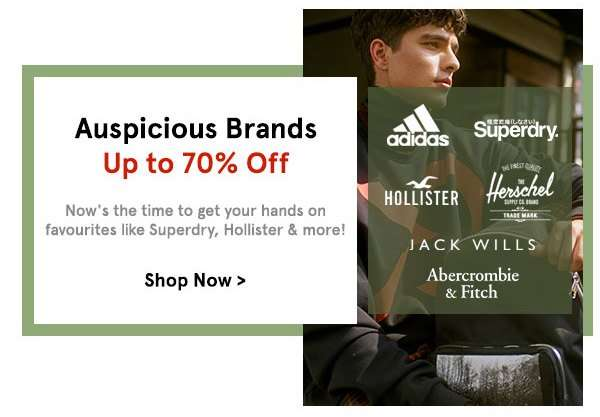 Auspicious Brands Up to 70% Off