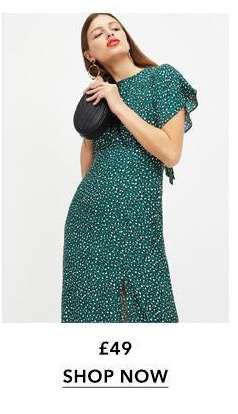 Green Animal Print Maxi Dress