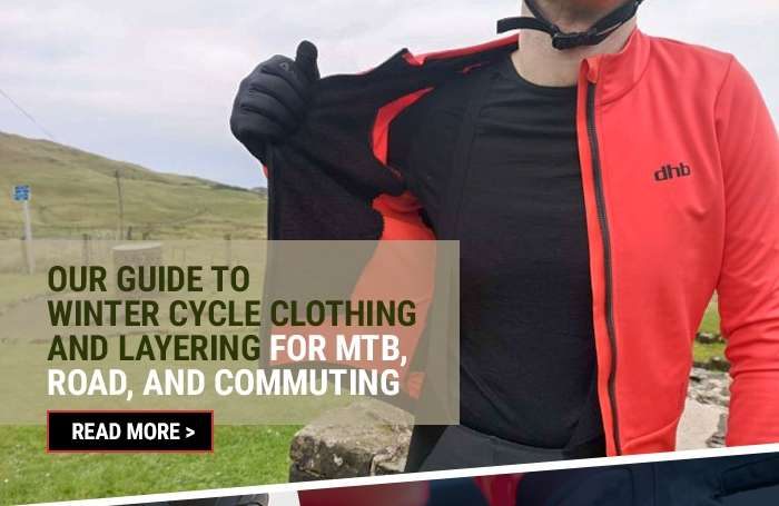 Our guide to winter cycle clothing and layering for MTB, road, and commuting