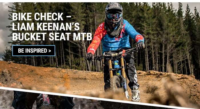 Bike check – Liam Keenan's bucket seat MTB