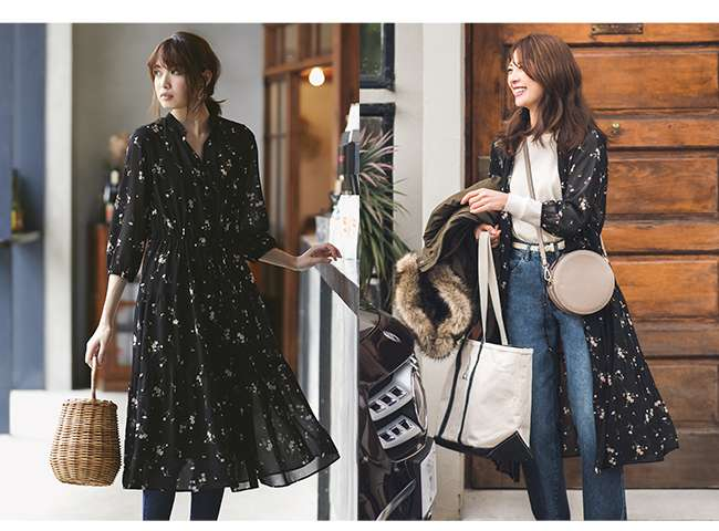 WOMEN's Chiffon Printed 3/4 Sleeve Dress at $59.90