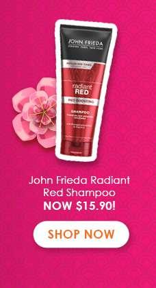 John Frieda Radiant Red Shampoo Now $15.90