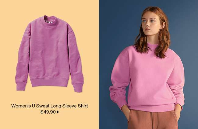 Women's U Sweat Long Sleeve Shirt at $49.90