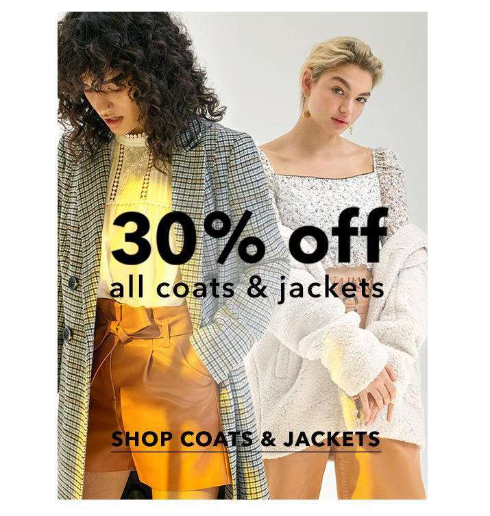 30% off all coats & jackets - Shop coats & jackets