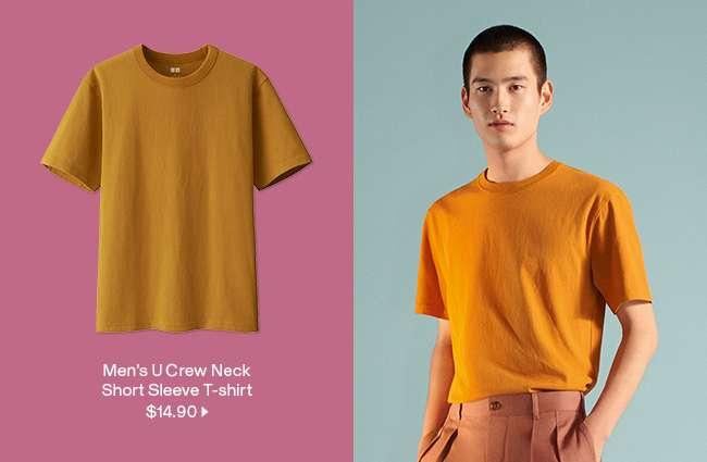 Men's U Crew Neck Short Sleeve T-shirt at $14.90