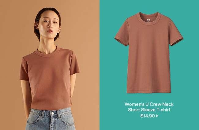 Women's U Crew Neck Short Sleeve T-shirt at $14.90