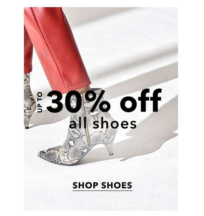 Up to 30% off all shoes - Shop shoes