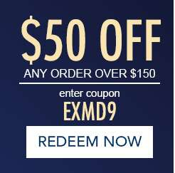 $50 off any order over $150. Enter coupon EXMD9. Redeem now. Hurry, expires at Midnight EST.