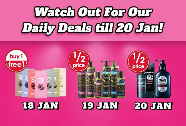 Look out for our Daily Deals of the Day from 18-20 Jan!