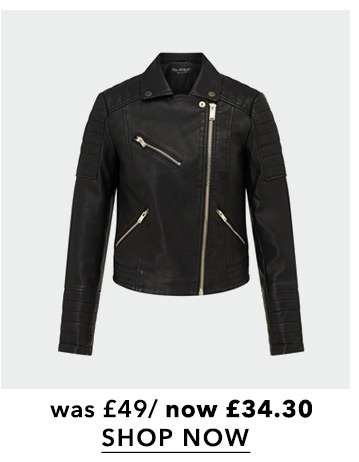 Black Bella PU Biker Jacket