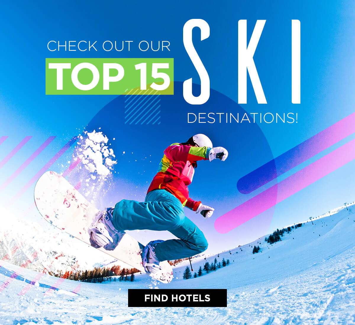 Check out our top 15 ski destinations