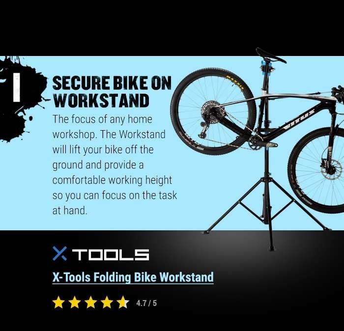 X-Tools Folding Bike Workstand