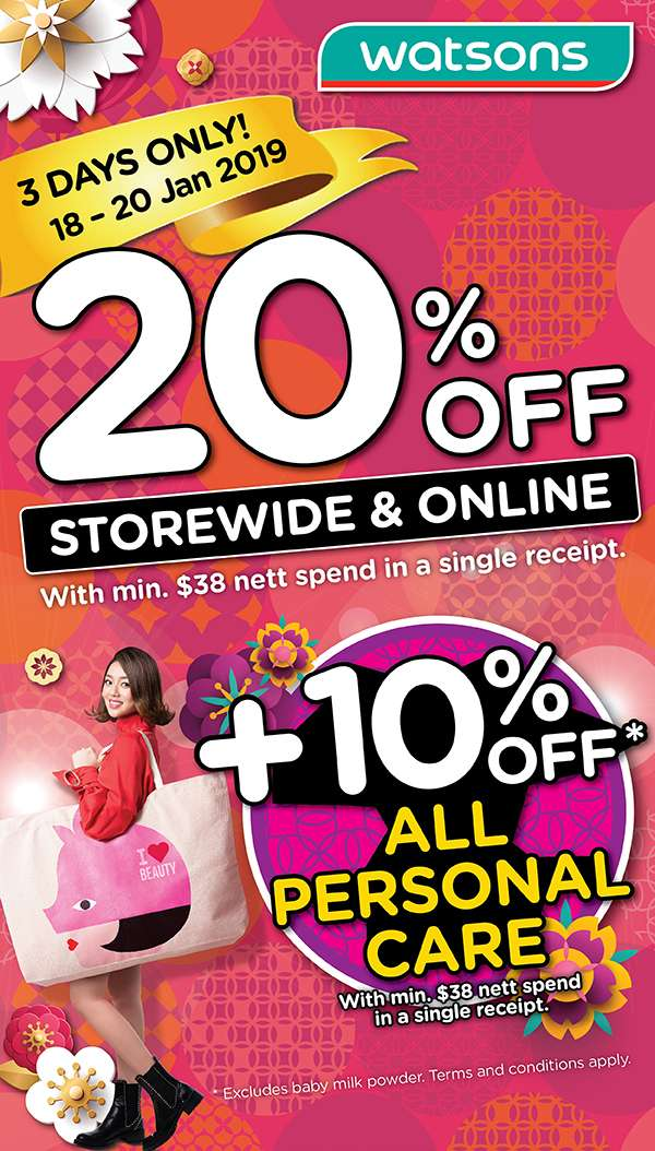 Storewide 20% + 10% off Personal Care