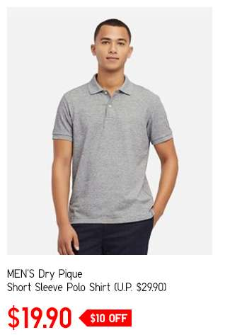 Shop Men's Dry Pique Short Sleeve Polo Shirt