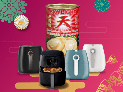 Redeem a Skylight Abalone with purchase of Philips Airfryer.