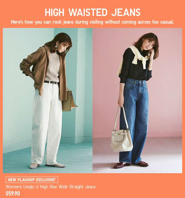 Women's Uniqlo U High Rise Wide Straight Jeans at $59.90