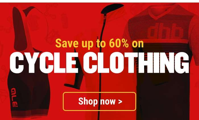 Save up to 60% on Cycle Clothing