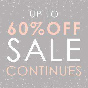 Up To 60% Off SALE Continues