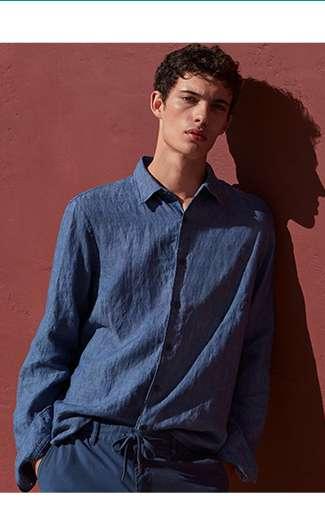 MEN's Premium Linen Long Sleeve Shirt at $49.90