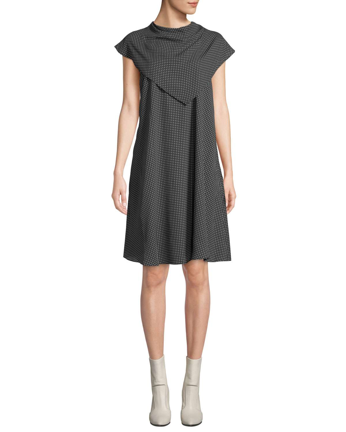 The Thanh Popover Cap-Sleeve Dress