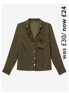 Khaki Collar Revere Utility Shirt
