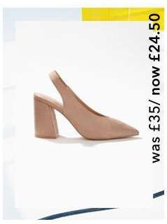 CARRIE Nude Slingback Heeled Sandals