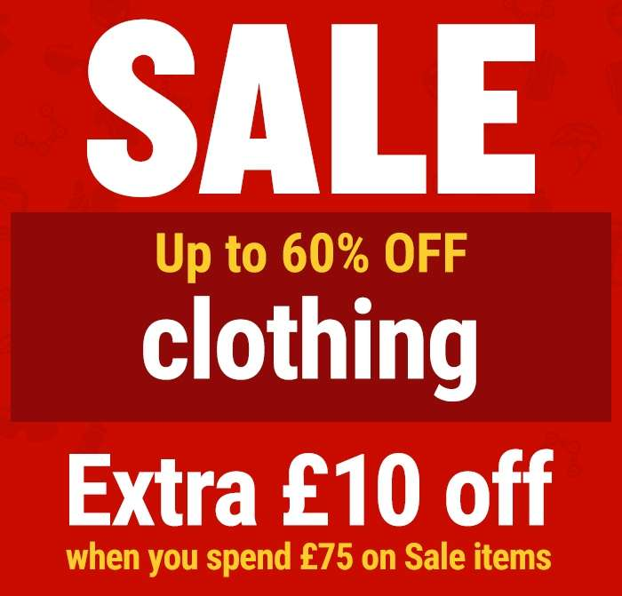 SALE Up to 60% off clothing