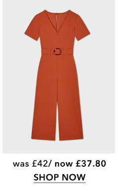Rust Buckle Detail Jumpsuit