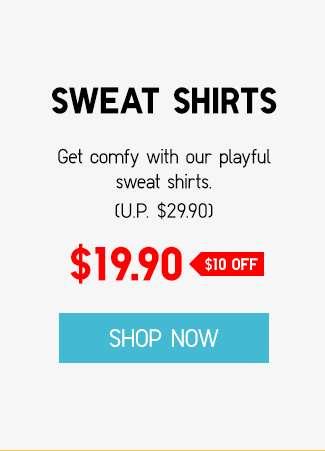 KAWS x Sesame Street Sweat Shirts at $19.90 ($10 OFF)