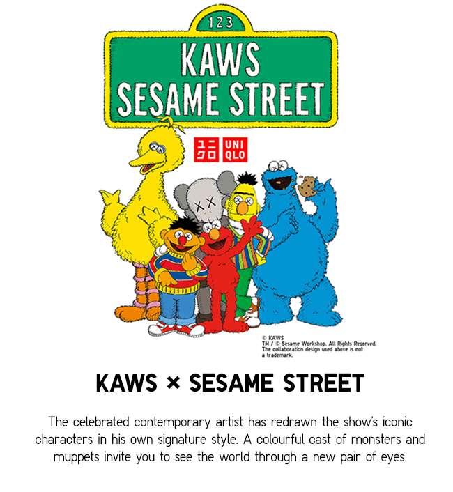 SALE | KAWS x Sesame Street UT Collection