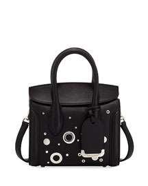 Alexander McQueen Heroine 21 Mini Leather Satchel Bag with Hardware Detail
