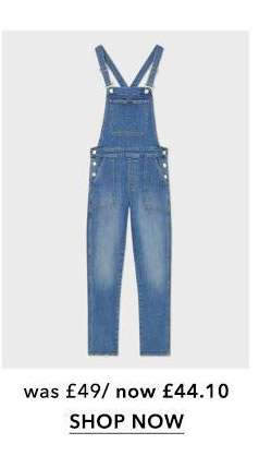 Mid Blue Relaxed Skinny Dungaree