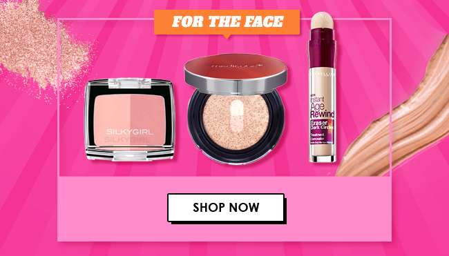 30% off all Face Cosmetics