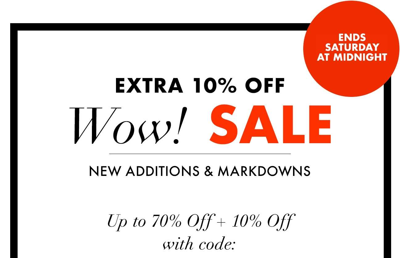 Wow! SALE - Up to 70% OFF