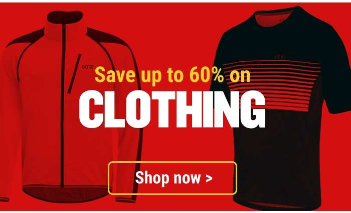 Save up to 60% on Clothing