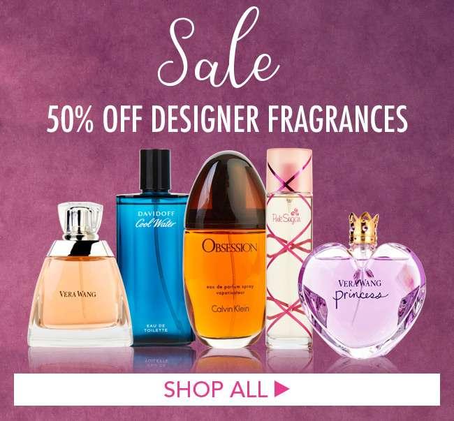 Sale! 50% Off Designer Fragrances. Shop Now
