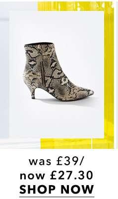 BRANDY Grey Kitten Heel Boots