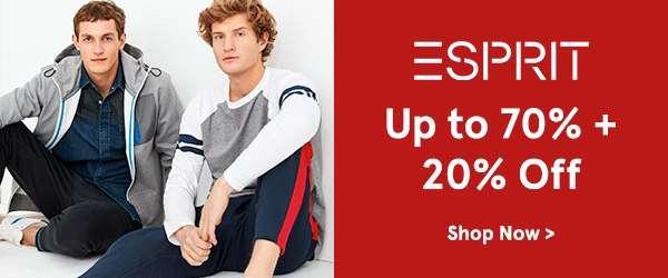 Esprit Up to 70% Off + 20% Off!