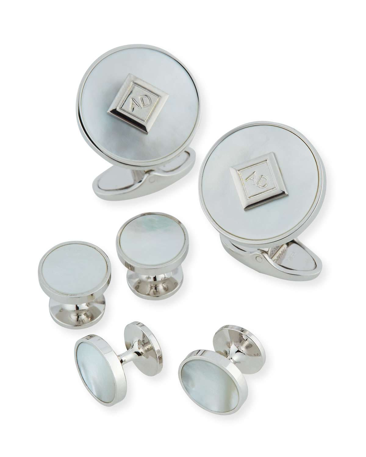 Mother of Pearl Cufflinks & Stud Set