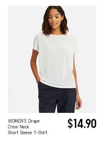 Women's Drape Crew Neck Short Sleeve T-shirt