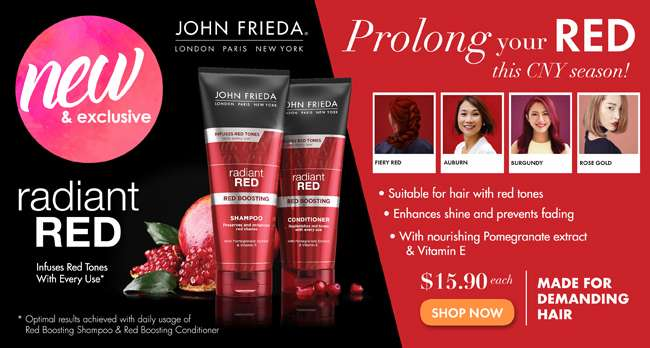 John Frieda Radiant Red Shampoo and Conditioner ($15.90 each)