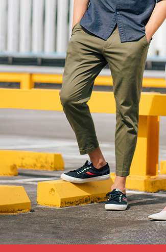 Men's EZY Relaxed Fit Ankle Pants (Cotton) at $49.90