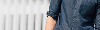 Men's Linen Cotton Stand Collar Shirt at $29.90