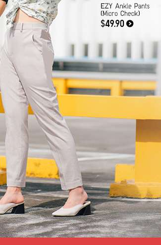 Women's EZY Ankle Pants (Micro Check) at $49.90