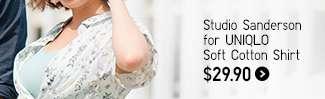 Women's Studio Sanderson for UNIQLO Soft Cotton Shirt at $29.90