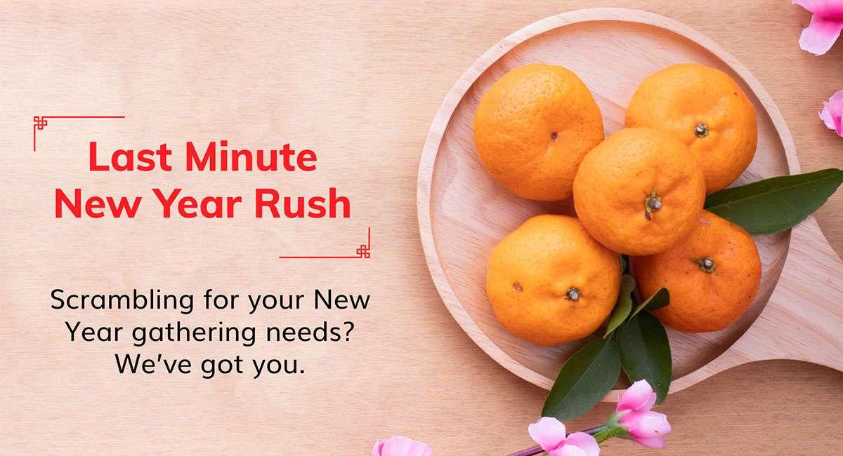 Last Minute New Year Rush