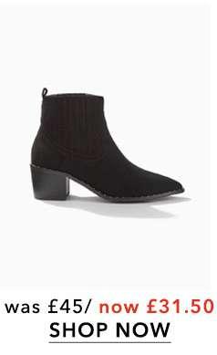 BROOKE Black Western Boots