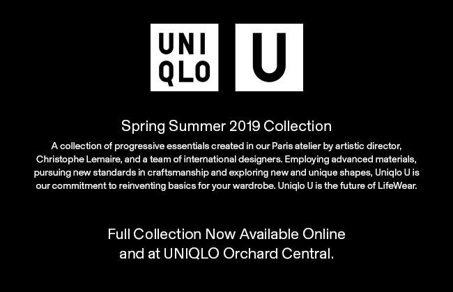 Spring Summer 2019 Uniqlo U Full Collection now available at Orchard Central and online.