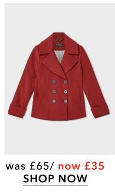 Brown Short Pea Coat