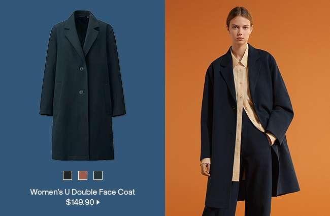 Women's U Double Face Coat at $149.90